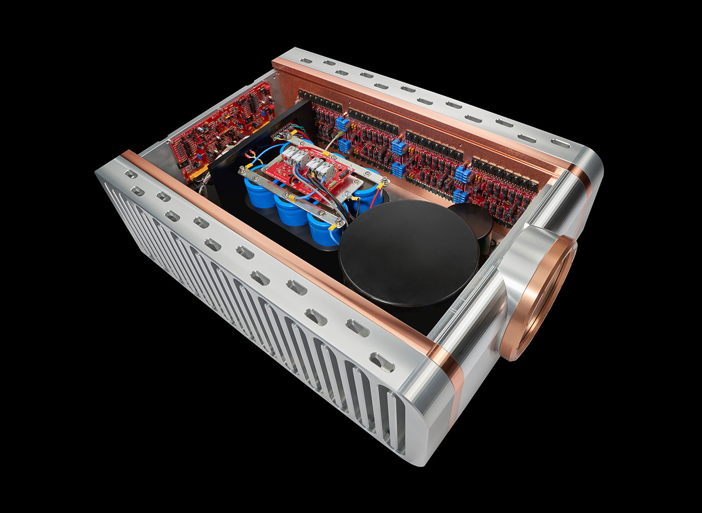Relentless Monoblock Products Dan Dagostino Master Audio Systems 1500 Watt High Power Amplifier With Its 55 Kilowatt Supply Feeding Roughly 100 Output Devices The Easily Delivers Watts Into 8 Ohmsand When Connected